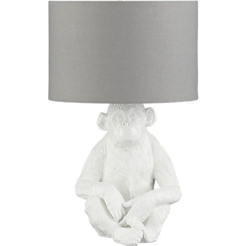 We love decor with a sense of humor. Monkey lamp at CB2!   Modern .