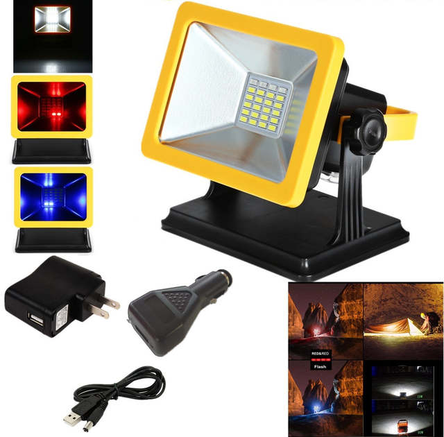 JIGUOOR Mobile Floodlight LED Working Lamp Projection Charging .