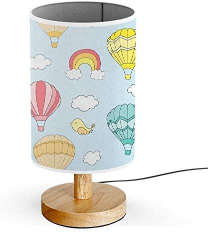 ArtLights - Wood Base Decoration Desk/Table/Bedside Lamp [ Hot Air .