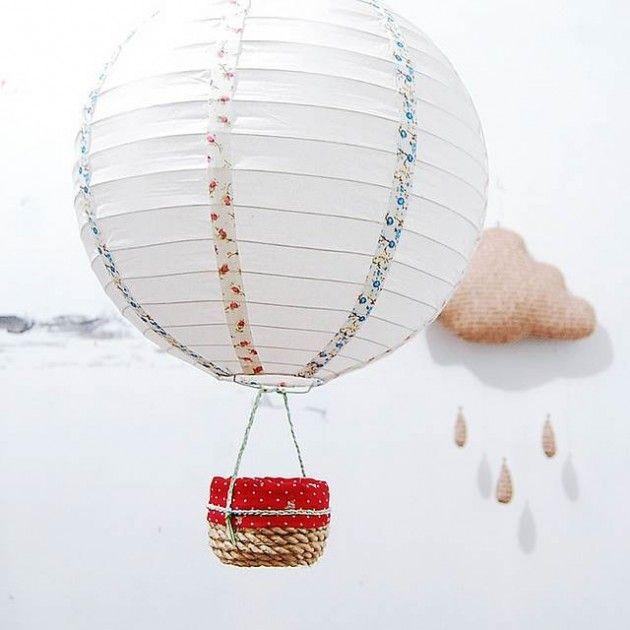 35 Lovely DIY Paper Lamps | Diy hot air balloons, Paper lamp .