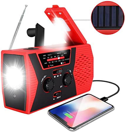 Amazon.com: 2020 Upgraded Emergency Solar Hand Crank Radio .