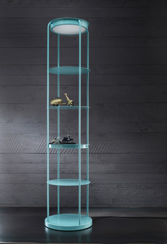 LEVEL: Shelf, Lamp And Device Recharger In One - DigsDi