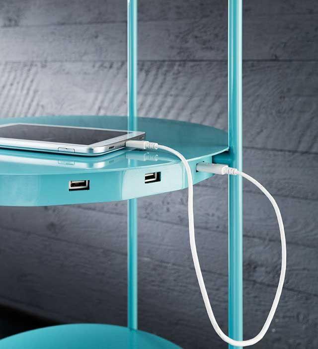 Level Floor Lamp Shelf Device Charger | Shelf lamp, Floor lamp .