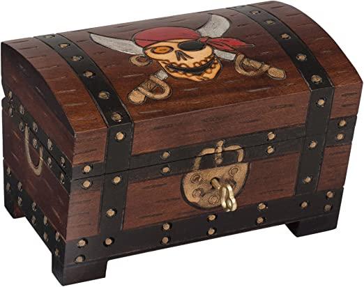 Amazon.com: Pirate Skulls Treasure Chest Box Polish Handmade Wood .