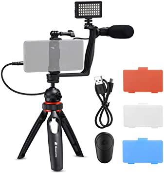 Amazon.com: Powerextra Smartphone Video Stabilizer Rig Kit with .
