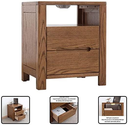 Amazon.com: Solid Wood Bedside Table Nordic Modern Minimalist .