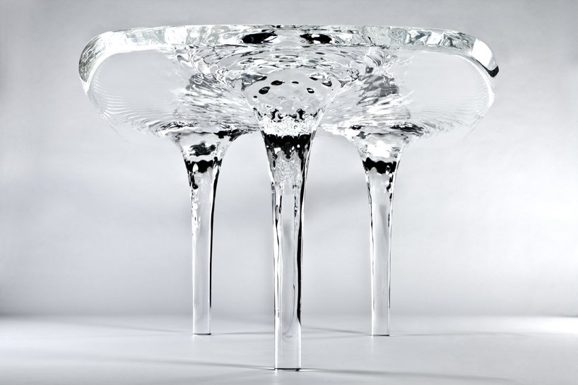 liquid glacial table by zaha had
