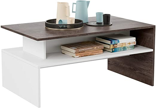 Amazon.com: HOMFA Modern Console Table Coffee Table 2-tier, 35.4 .