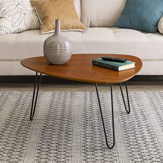 Amazon.com: WE Furniture Mid Century Modern Hairpin Coffee Accent .