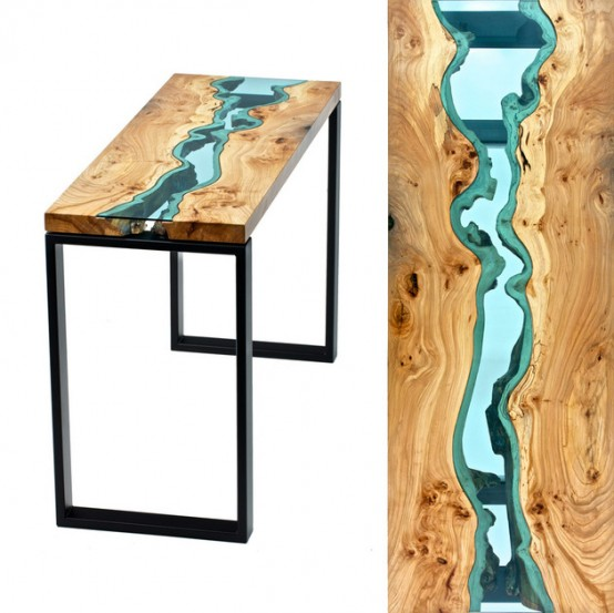 Living Edge Tables Welcoming Natural Imperfections - DigsDi