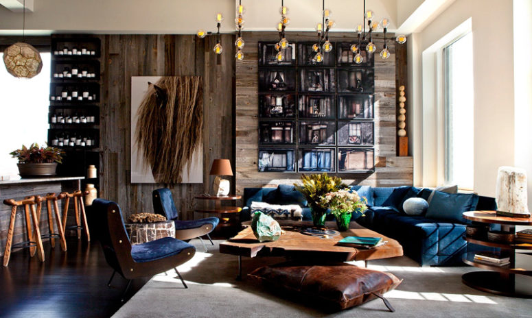 Gorgeous Loft With Beautiful Textures And In Warm Shades - DigsDi