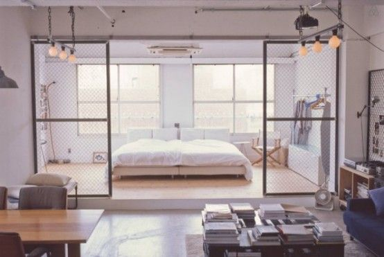 Minimalist Tokyo Loft With Industrial Touches | Lofts for rent .