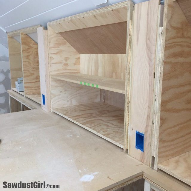 Building Angled Cabinets | Cabinet, Loft storage, Built in cabine