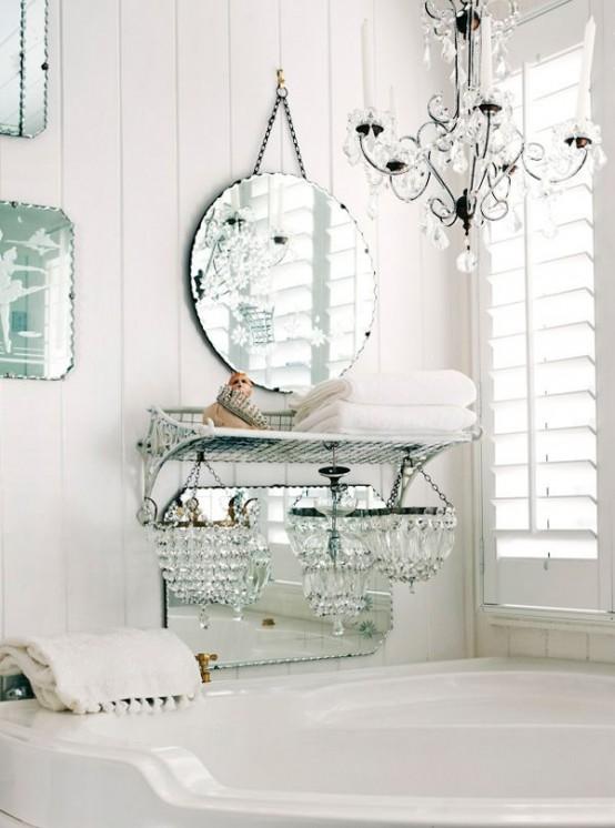 28 Lovely And Inspiring Shabby Chic Bathroom Décor Ideas - DigsDi