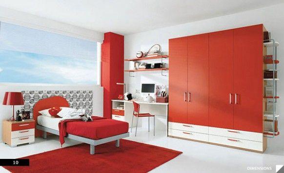 21 Lovely Children's Room #children #lovely | Red bedroom .