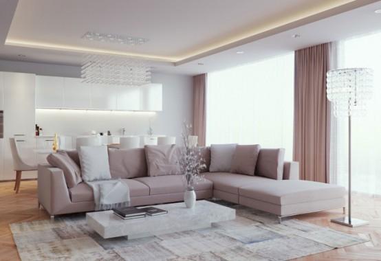 Luxurious And Elegant Living Room Design: Classics Meets Modern .