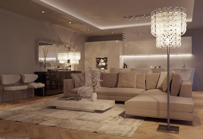 Design collection | Modern Luxury Elegant Living Room Interior .