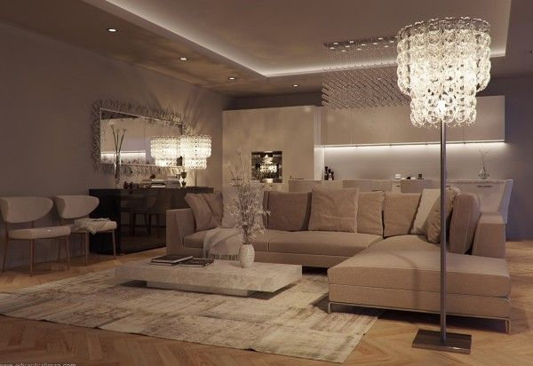 Five Fab Apartment Designs | Luxury living room, Elegant living .
