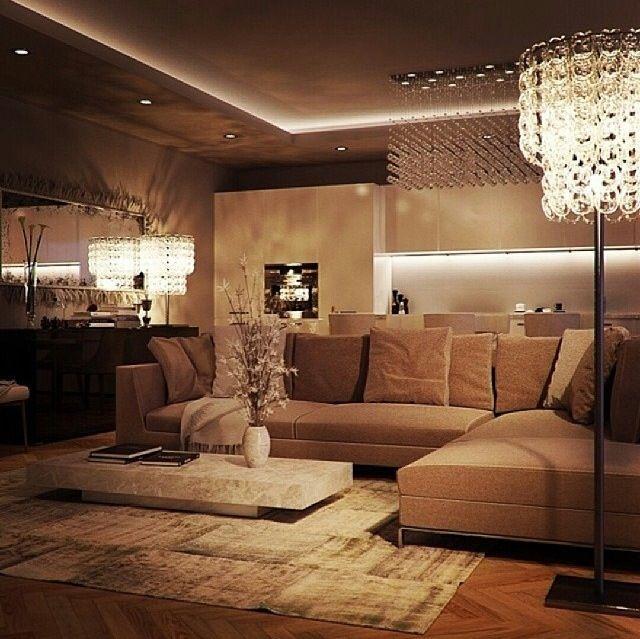 Warm living room | Luxury living room, Elegant living room .