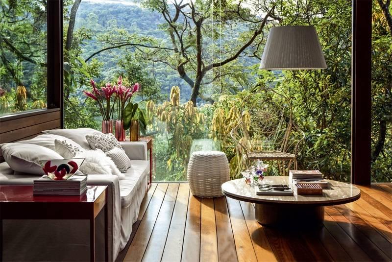 Luxurious Summer Veranda Design Glass Walls Ceiling - Home Plans .