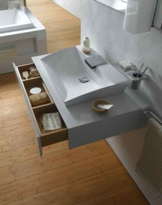 Luxury Bathroom Collection In Minimalist Style by TOTO - DigsDi