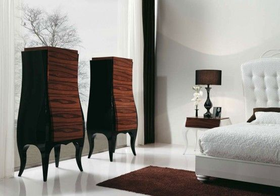 Luxury Bedroom with Beautiful White Bed by MobilFresno (With .