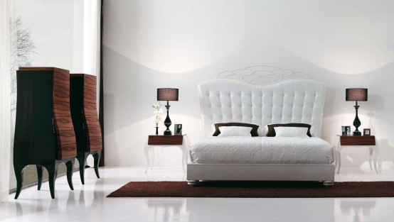 Luxury Bedroom with Beautiful White Bed by MobilFresno - DigsDi