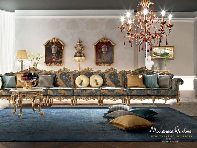 12402 7 seater sofa by Modenese Gastone group | Luxury italian .