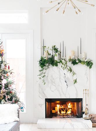modern-christmas-mantel-decorating-ideas | Décor A