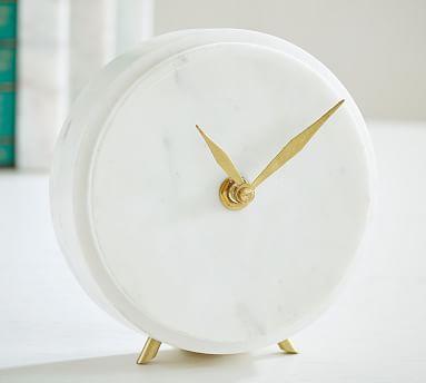 Madaline Marble Clock   Pottery Ba
