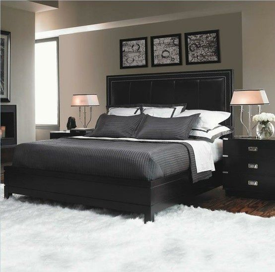 masculine grey bedroom - Google Search | Cheap bedroom furniture .