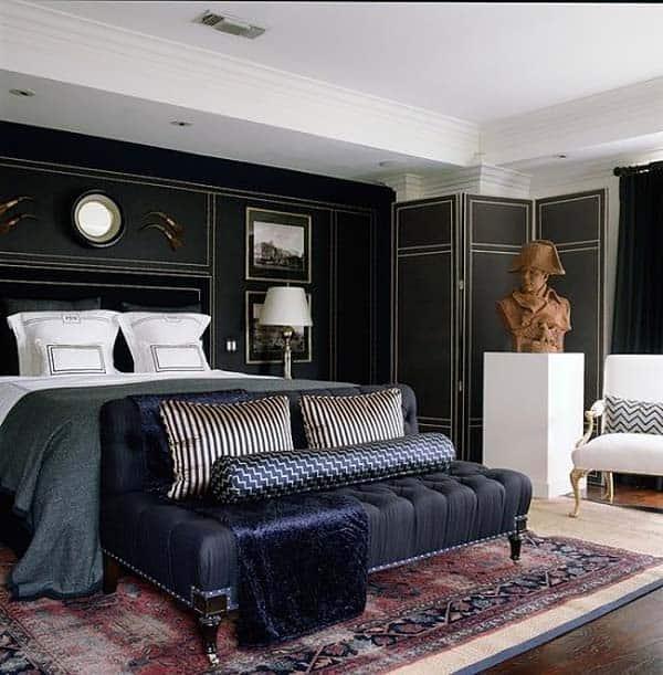 55 Sleek and sexy masculine bedroom design ide