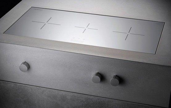 Masculine Kitchen Furniture Design Of Concrete And Dark Wood .