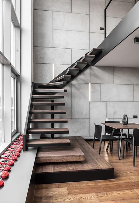 Masculine Interior Design, Apartment in Poland in Minimalist Sty