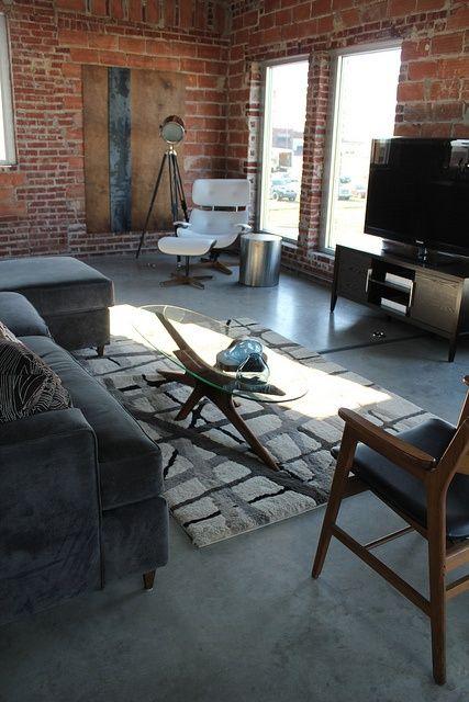 Modern, masculine loft space Kara Paslay Designs | Loft spaces .