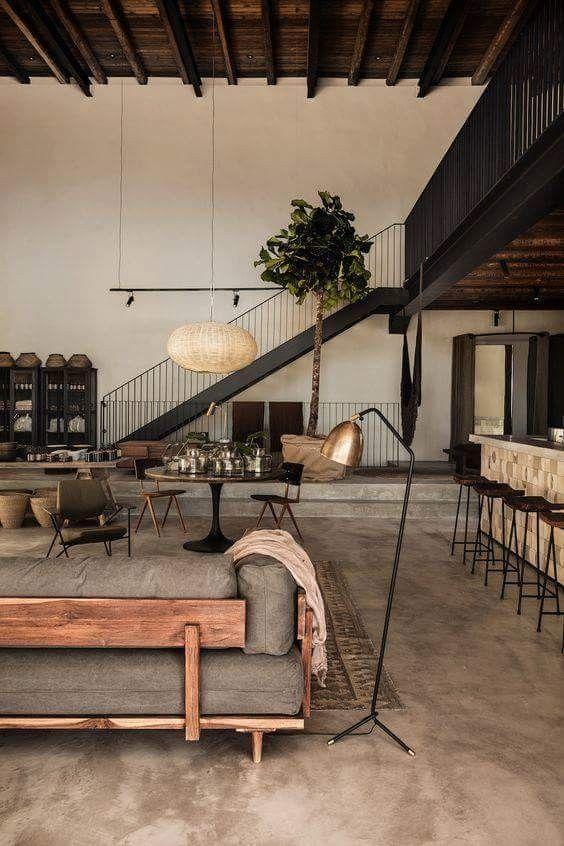 spacious masculine loft | Industrial interior design, Modern .