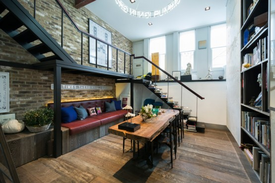 Industrial Masculine Loft Designed With Minimalist Zones - DigsDi