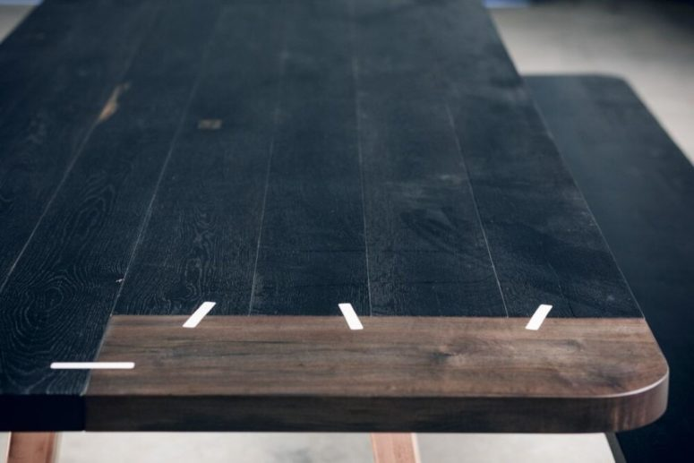Black Patch Match Tables That Seem To Be Stitched - DigsDi