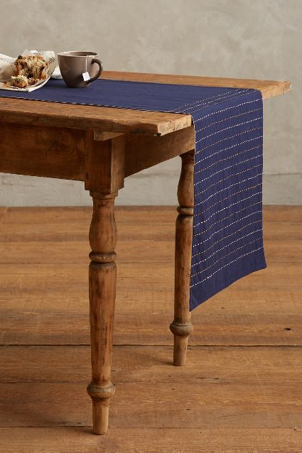 Kantha Stitched Table Linen - #anthroregistry   Table linens .