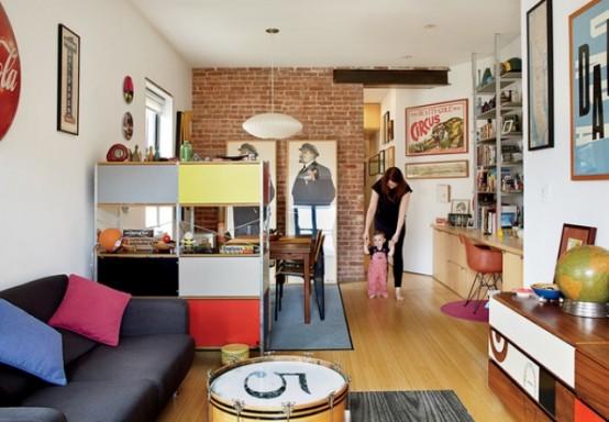Mid-Century Modern Renovation Of A Tiny New York Apartment - DigsDi