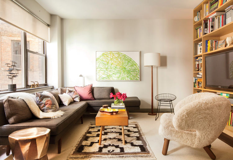 Small Space Living | Mid-century Luxury in a 520 Square Feet .