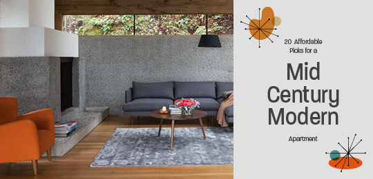 20 Affordable Picks for a Mid-Century Modern Apartment | Prim