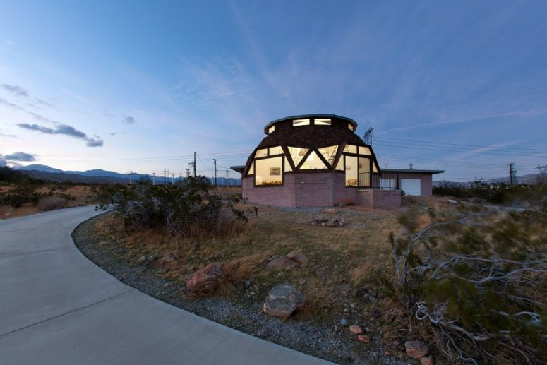 Mid-Century Dome House With Angular Windows - DigsDi