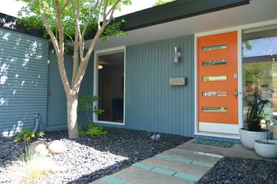 Another Mid-Century Ranch in Texas | Mid century modern door .