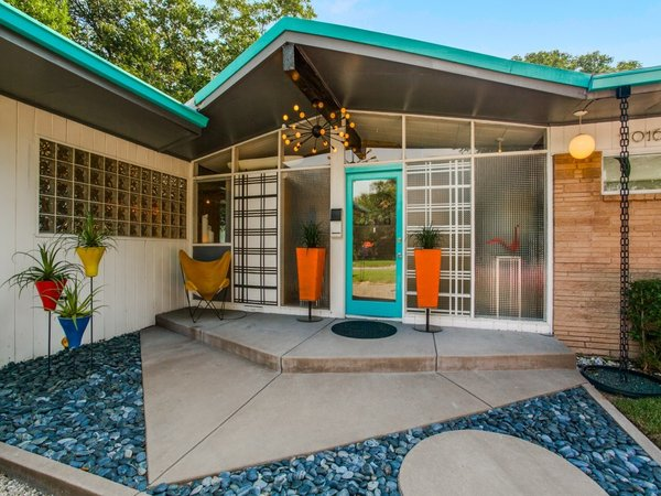 Candy-Colored Mid-Century Modern Throwback Modern Home in Dallas .