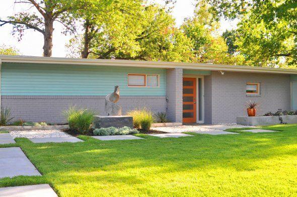 mid-century modern exterior house colors #lortondale | House paint .