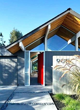 mid-century-modern-blue-Home-exterior-color-ideas | Décor A