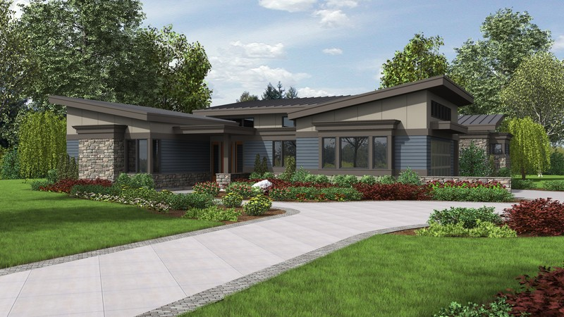 4 Home Plans with the Midcentury Modern Lo