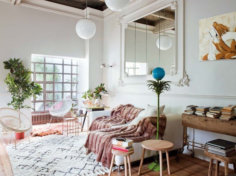 Mid-Century Modern Apartment With Parisian Vibes - DigsDi