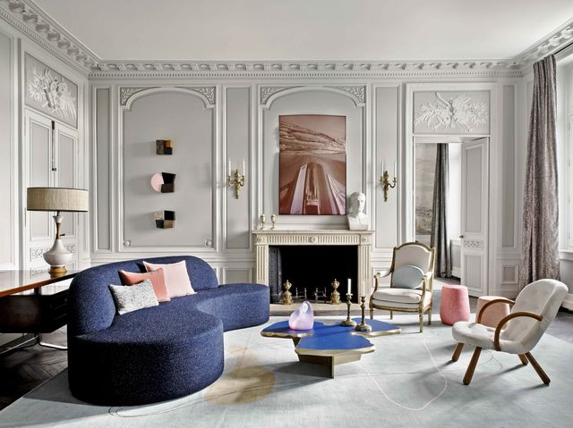 Jean-Louis Deniot Modern Paris Apartment - Rue de Rivoli Fl